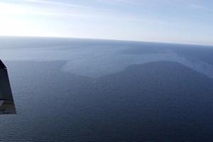 Større olieforurening på havet uden for Ystad