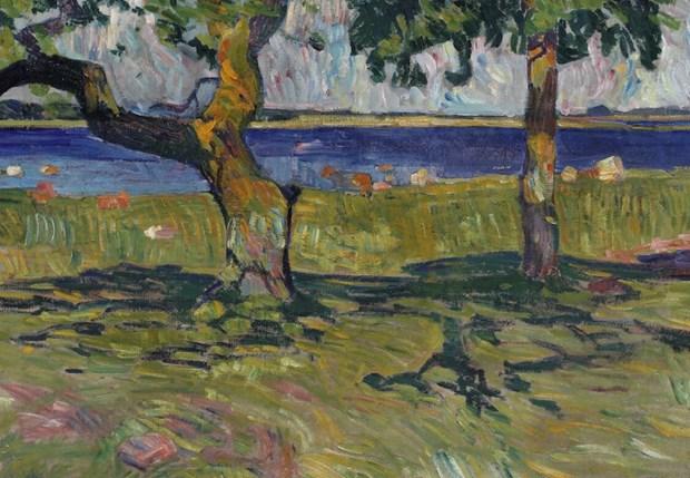 Olaf Rude-maleri købt af kunstmuseum: Det minder om Gauguin og Van Gogh
